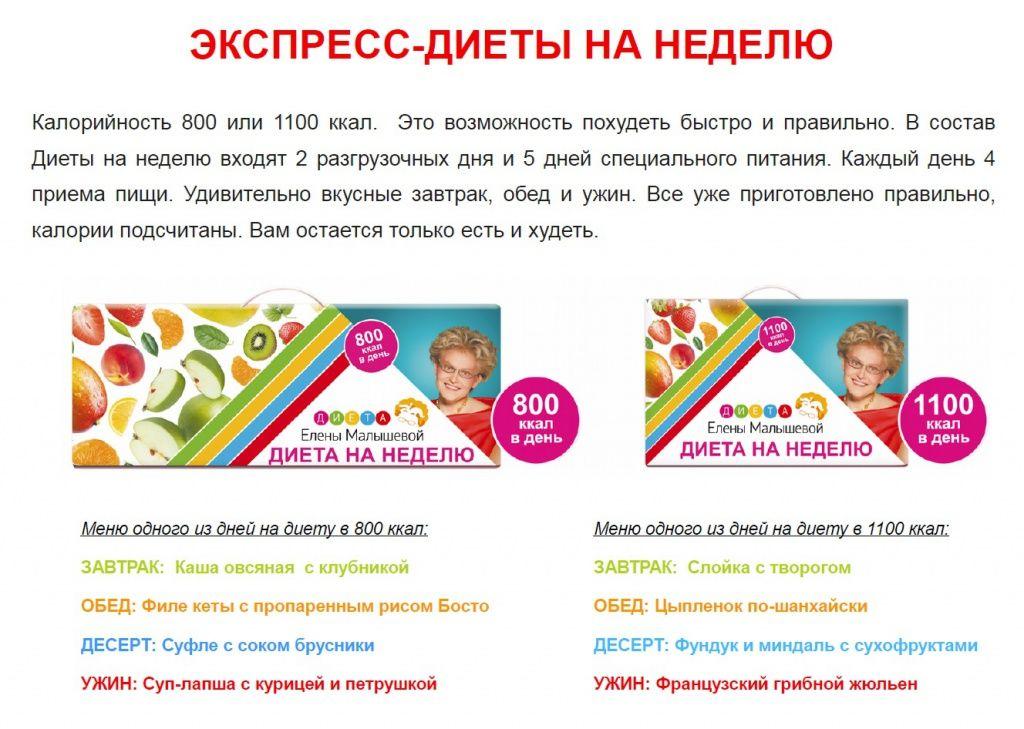 Диета Малышевой Официальный